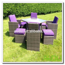 Audu Miami Purple Открытый садовый гарнитур из ротанга