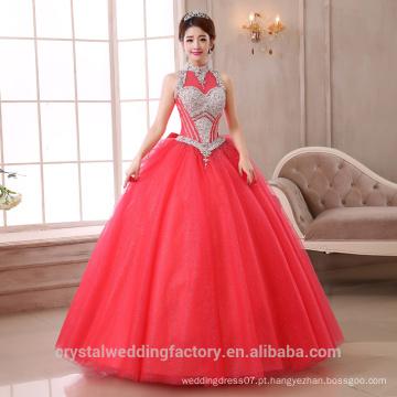 2017 Novos Vestidos feitos sob encomenda Bridal Puffy Vestidos de noiva coloridos com vestido de bola MW2271