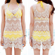 Mode koreanische Design Spitze Corchet Sexy Strandkleid (50163)