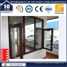 Double Pane Outside Opening Aluminum Casement Window