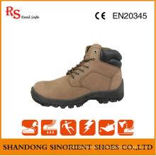 Botas de segurança de couro nubuck na moda para mulheres RS047