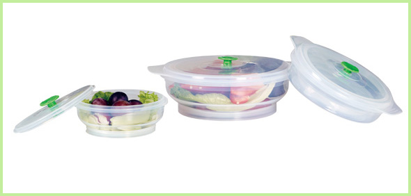 Set Of 3 Silicone Lunch Box Set