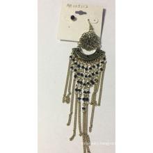 Lace Earring with Metal Tassel Beauty