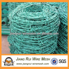 galvanized and PVC coated barbed wire coils