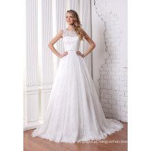 Uma linha de vestido de casamento nupcial