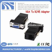 Venda quente VGA para RJ45 adaptador VGA fêmea para CAT5 CAT6 fêmea conector