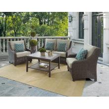 Wicker Terrassengarten Rattan Outdoor Lounge Sofa Set