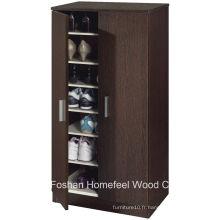 Meubles d'entrée Cabinet de chaussure en bois à 2 portes (SC04)