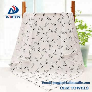 Couvertures 100% respirables d'emmaillotage de coton biologique Couvertures 120x120cm super molles de bébé
