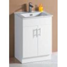 Branco brilho MDF banheiro vaidade (SK6027-600W)