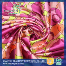 Custom High Quality Printed Polyester Satin Fabric For Dress