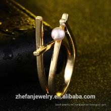 anillo de perlas de diseño extravagante de fabricante de joyería al por mayor