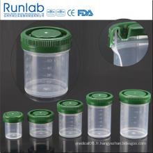 Conteneurs d'échantillons d'histologie de 60 ml enregistrés par la FDA