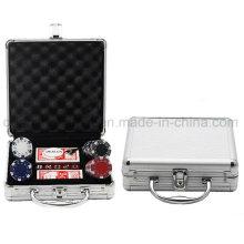 OEM High Quality Aluminum Handle Poker Chip Box Case