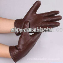 fashion leather skeleton driving hand gloves