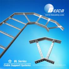 HDG Galvanizado Por Imersão a quente Elétrica / Pré-Galvanizado Escada De Aço Fornecedor