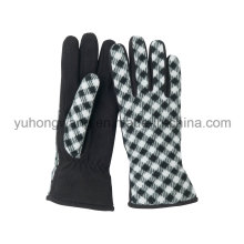 Lady Warm Single Layer Polar Fleece Printed Gloves/Mittens