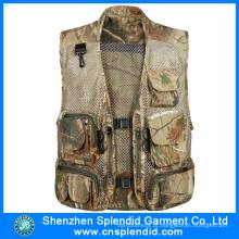 Atacado 100% Algodão Canvas Multi Bolso Tactical Vest