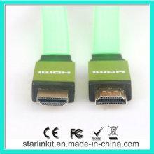 Flat PVC Jacket 1.4V 1080P HDMI Cable Green