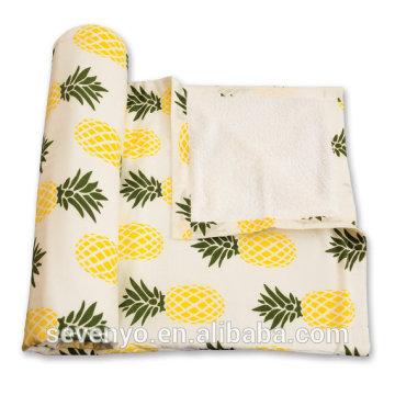 Hot sale 100% cotton Printing Pineapple oversize Graden beach towel BT-010