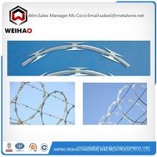 Manufacturing big quantity razor barbed wire BTO-22 razor barbed wire razor wire