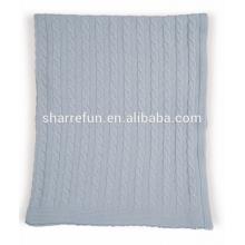 100% чистый кашемир кабель вязаный одеяло