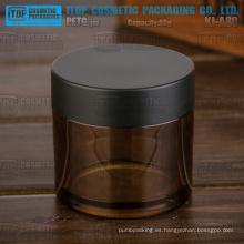KJ-A80 80g vacía color personalizable gruesa PETG cosméticos material ámbar frasco de plástico