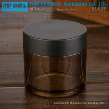 KJ-A80 80g vazio cor personalizável grosso PETG material cosméticos âmbar frasco plástico