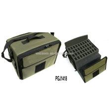bolsa de herramientas de nylon impermeable con espuma personalizada diferentes dentro y logo bordado