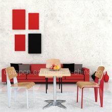 Квадратный деревянный металлический стол ресторан стол и стул (СП-CT632)