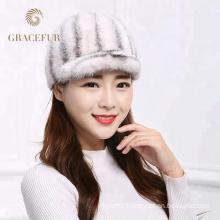 Manufacturer wholesale winter real mink fur hat mink cap