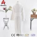 Cheap price 100% polyester white flannel fleece solid bathrobe