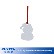 Promotion Blank Wooden Printed Christmas Ornaments in Different Shapes High Definition Sublimation MDF Ornaments Snowman