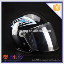 China atacado capacete de meia face de motocicleta preto barato