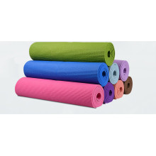 Изготовленный на заказ органический экологически чистый коврик для йоги с тиснением