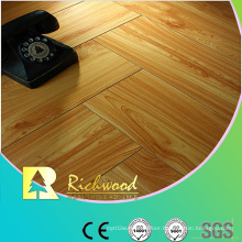 Household 12.3mm Embossed Hickory Waxed Edged Lamianted Floor