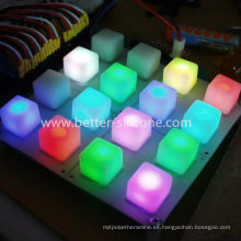 Teclado de almohadilla de botones MIDI de piano musical de goma LED