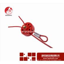 Wenzhou BAODSAFE BDS-L8631 Fechamento do bloqueio do bloqueio do cabo da roda ajustável 2.4m