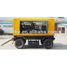 Mobile generator set with trailer