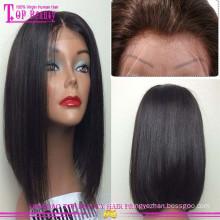 Новые продукты 100% Виргинские человеческих волос короткий Боб кружева перед парик бразильские волосы