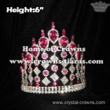 Wholesale Crystal Pageant Crowns With Pink Diamonds