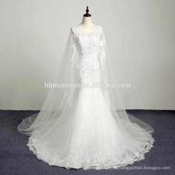 Vestido largo de novia de organza de longitud de piso de organza blanco vestido de boda bordado informal
