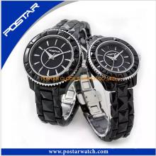 O relógio de pulso Ceramic relógios casal