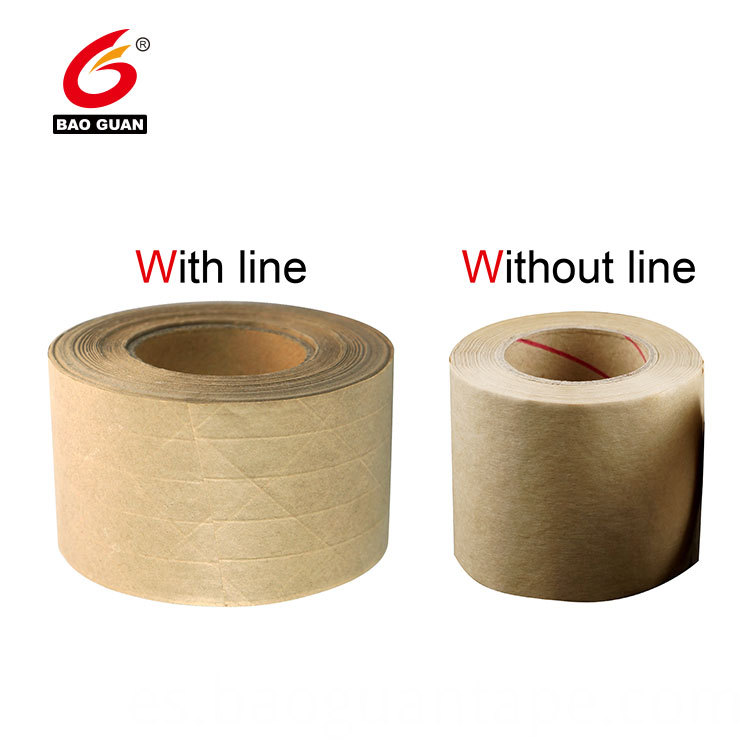 Free Sample Reinforced Gummed Paper Tape Water Activated Kraft Paper Tape