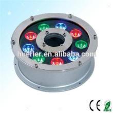 El rgb submarino popular llevó la lámpara giratoria del color para las fuentes, luz al aire libre llevada impermeable IP65