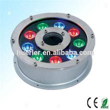 popular underwater rgb led full color rotating lamp for fountains,waterproof led outdoor light IP65