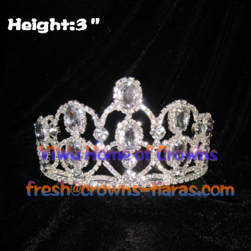 3-Zoll-Clear Diamond Pageant Kronen