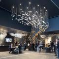 Professional design hotel modern art deco chandelier lamp