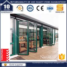 Puerta plegable de aluminio de gran brillo con 3500 PA Dwp