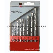 Power Tool 8PCS Masonry Drill Bit Set, Plastic Blister Packaging
